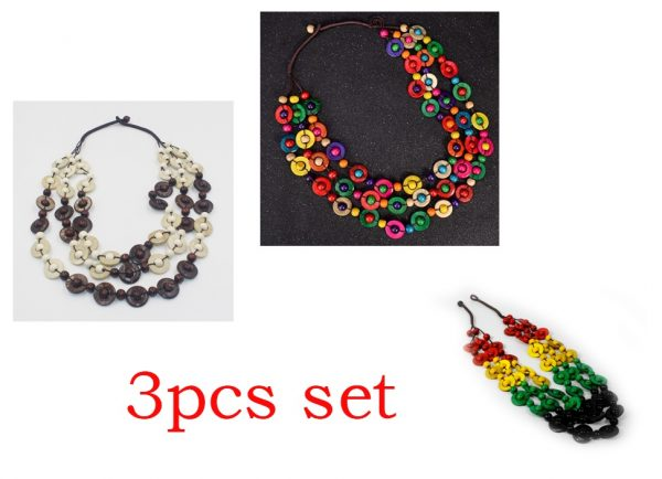 Collier arc-en-ciel - Collier 2 tons - 3 pieces