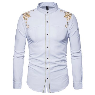 Chemise africaine a manches longues homme